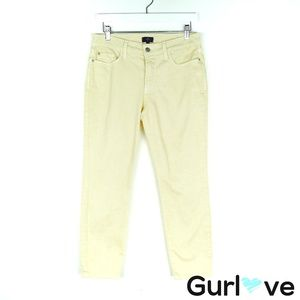 NYDJ Petite Yellow Ankle Jeans Size 6P